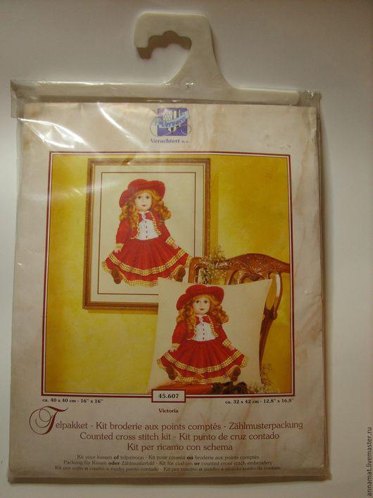 Вышивка ручной работы. Ярмарка Мастеров - ручная работа. Купить Набор для вышивки крестом Кукла в красном платье Виктория ( Victoria ). Handmade.
