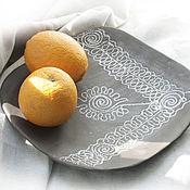"""Посуда ручной работы. Ярмарка Мастеров - ручная работа Интерьерное блюдо """"Какао"""". Handmade."""