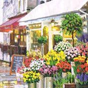 Материалы для творчества ручной работы. Ярмарка Мастеров - ручная работа Цветочный магазин (13310325) 33х33 салфетка для декупажа. Handmade.