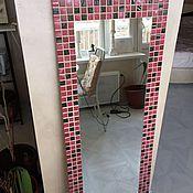Для дома и интерьера ручной работы. Ярмарка Мастеров - ручная работа Большое зеркало цветная мозаика. Handmade.