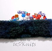 Аксессуары handmade. Livemaster - original item Knitted headband (strip) on the head Turban. Handmade.