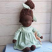 Мягкие игрушки ручной работы. Ярмарка Мастеров - ручная работа Waldorf doll African. Handmade.