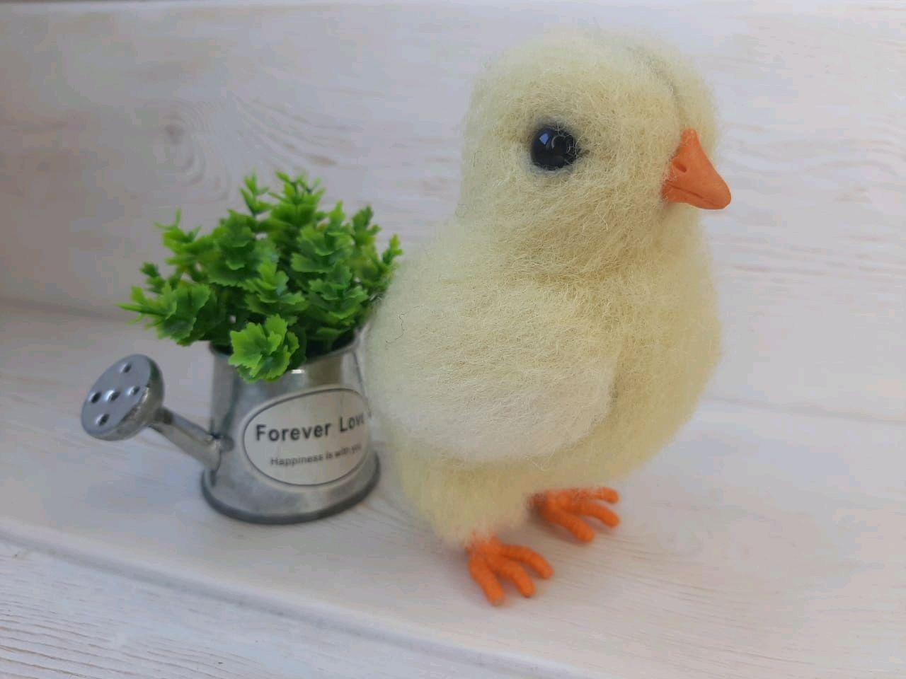 Цыплёнок, Войлочная игрушка, Иркутск,  Фото №1