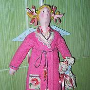 Куклы и игрушки ручной работы. Ярмарка Мастеров - ручная работа Хранительница ватных дисков Катрин. Ангел Тильда. Handmade.