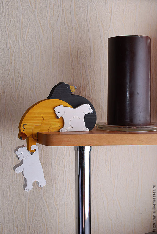 Украшение для полочки - медведи