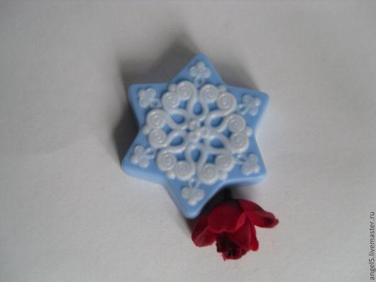 """Мыло ручной работы. Ярмарка Мастеров - ручная работа. Купить Мыло """"Снежинка"""". Handmade. Голубой, мыло ручной работы"""
