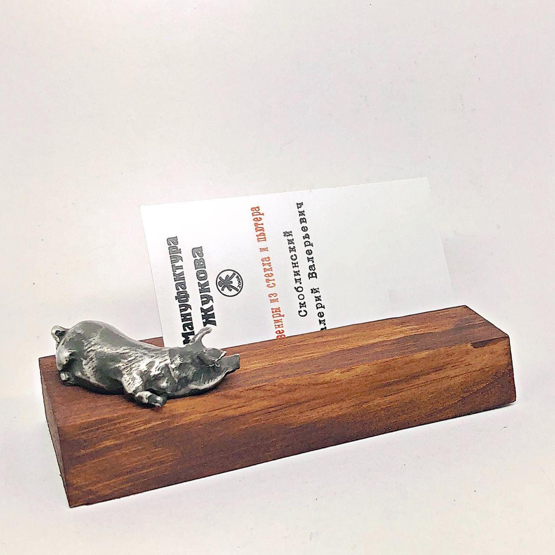 Подставка под визитки, фото. Визитница настольная. СВИНЬЯ. ПОРОСЁНОК, Визитницы, Жуковский, Фото №1