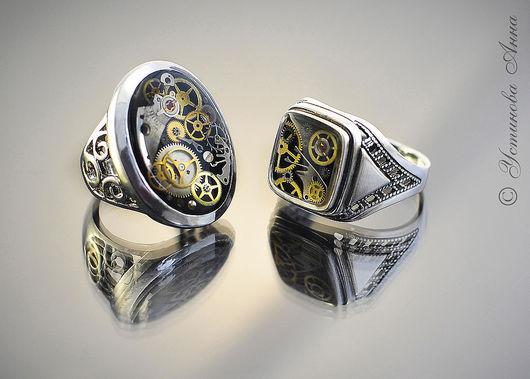 Стимпанк ручной работы. Ярмарка Мастеров - ручная работа. Купить Стимпанк кольцо, перстень, кольцо в стиле стимпанк/ Steampunk .... Handmade.
