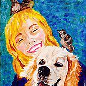 """Картины и панно ручной работы. Ярмарка Мастеров - ручная работа Картина маслом """"Счастье"""". Handmade."""