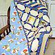 """Пледы и одеяла ручной работы. Ярмарка Мастеров - ручная работа. Купить Лоскутное одеяло """"Пиратское"""". Handmade. Квилтинг и пэчворк, пираты"""
