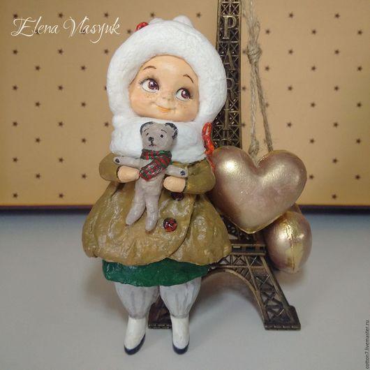 Коллекционные куклы ручной работы. Ярмарка Мастеров - ручная работа. Купить Ватная елочная игрушка Лизонька. Handmade. Ватная игрушка