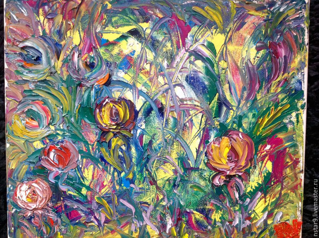 The colors of summer.Oil, Pictures, Moscow,  Фото №1