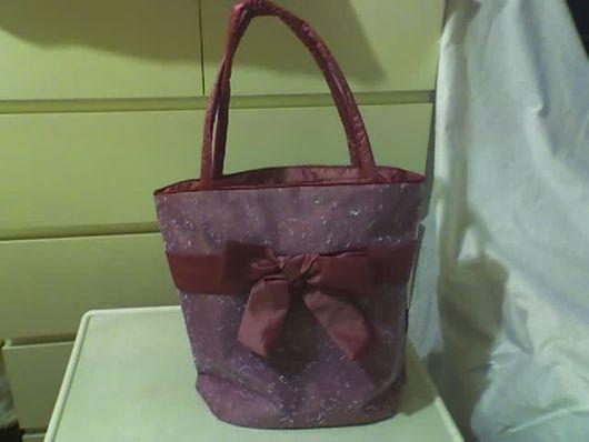Женские сумки ручной работы. Ярмарка Мастеров - ручная работа. Купить Розовая сумка с бантом. Handmade. Сетка, тафта, пластик