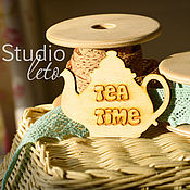 Материалы для творчества ручной работы. Ярмарка Мастеров - ручная работа Чайник Tea Time. Handmade.