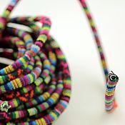 Материалы для творчества ручной работы. Ярмарка Мастеров - ручная работа Шнур текстильный цветной 6см. Handmade.
