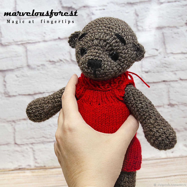 Вязаный мишка Тедди Майкл, Мишки Тедди, Буденновск,  Фото №1