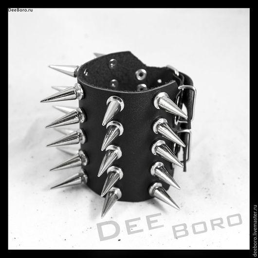 """Браслеты ручной работы. Ярмарка Мастеров - ручная работа. Купить Кожаный браслет """"Кимор Макс"""". Handmade. Черный, черный браслет"""