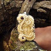 Pendants handmade. Livemaster - original item Pendant ocean, mammoth ivory carving. Handmade.