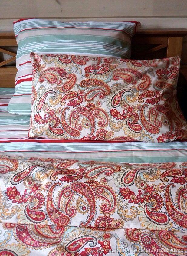 Текстиль, ковры ручной работы. Ярмарка Мастеров - ручная работа. Купить Комплект постельного белья Жар-птица. Handmade. Наволочка
