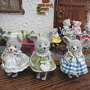 Куклы и игрушки ручной работы. Ярмарка Мастеров - ручная работа Мышки 6-7 см. Handmade.