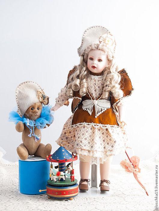 Винтажные куклы и игрушки. Ярмарка Мастеров - ручная работа. Купить Мишка тедди, в другом конце дома. Handmade. Бежевый