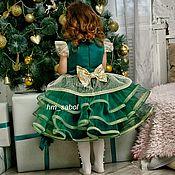 Платья ручной работы. Ярмарка Мастеров - ручная работа Платье ёлочки, изумрудное платье, зеленое платье на выпускной. Handmade.
