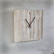 Для дома и интерьера handmade. Livemaster - original item Wall clock with wooden White loft style rustic, huge. Handmade.