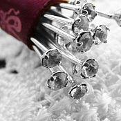 Материалы для творчества handmade. Livemaster - original item Pins for jewelry art. 4-19B with Swarovski crystal. Handmade.