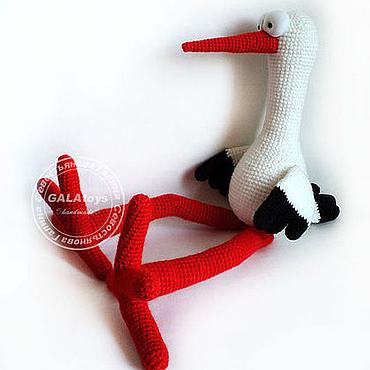 Куклы и игрушки ручной работы. Ярмарка Мастеров - ручная работа Аист. Вязаная игрушка.. Handmade.