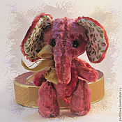 Куклы и игрушки ручной работы. Ярмарка Мастеров - ручная работа Слоник Земляничка. Handmade.