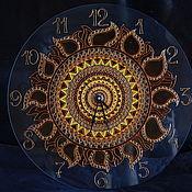 """Для дома и интерьера ручной работы. Ярмарка Мастеров - ручная работа Часы """"Soleil"""". Handmade."""