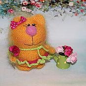 Куклы и игрушки ручной работы. Ярмарка Мастеров - ручная работа Смешинка)))))Кошечка вязаная)))). Handmade.