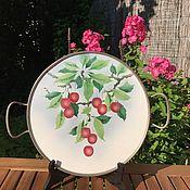 Винтаж handmade. Livemaster - original item Tray porcelain,
