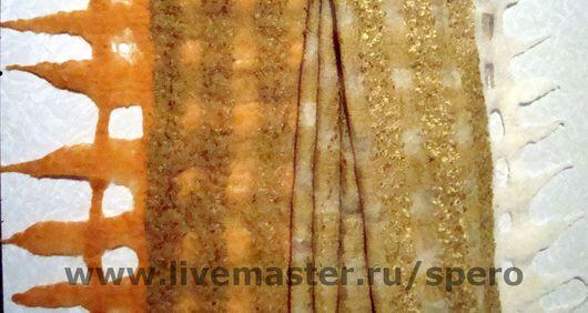 Шарфы и шарфики ручной работы. Ярмарка Мастеров - ручная работа. Купить бежево-золотистый. Handmade. Шерсть меринос
