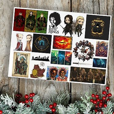 Materials for creativity handmade. Livemaster - original item Stickers the Hobbit the Lord of the rings hobbit lord of the rings. Handmade.