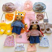 Куклы и игрушки handmade. Livemaster - original item Play sets: pocket doll,textile,game, with clothes. Handmade.