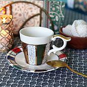 Посуда handmade. Livemaster - original item Cup and saucer for espresso. Handmade.