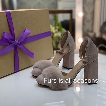 Обувь ручной работы. Ярмарка Мастеров - ручная работа Нежнейшие туфельки с мехом плюшевой норки. Handmade.