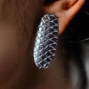 Серьги-пусеты ручной работы. Ярмарка Мастеров - ручная работа Серьги-пусеты: Bellis Silver. Handmade.