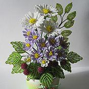 Цветы и флористика ручной работы. Ярмарка Мастеров - ручная работа Ромашки да малинки. Handmade.