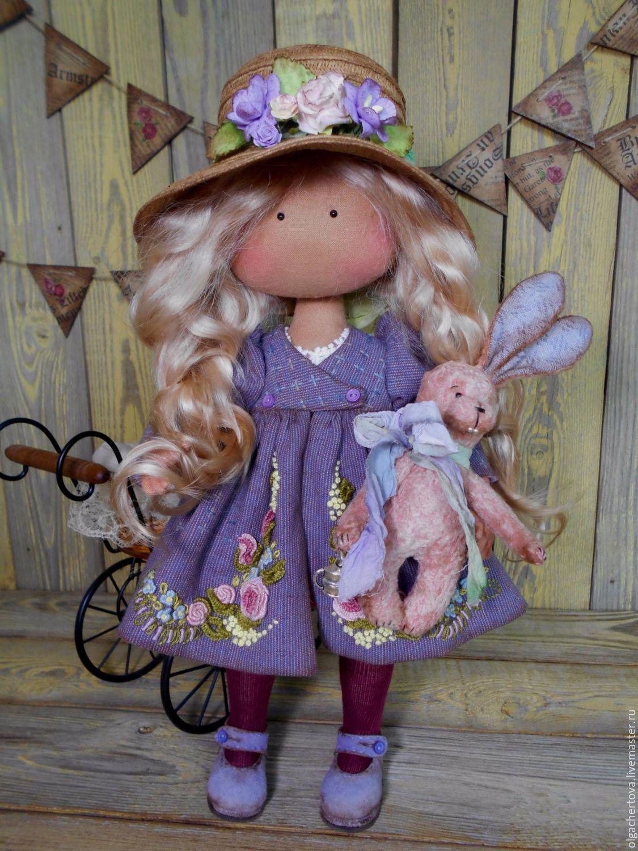 Коллекционные куклы ручной работы. Ярмарка Мастеров - ручная работа. Купить Амели. Handmade. Кукла, кукла из ткани, холофайбер