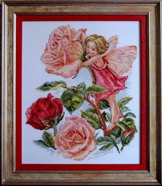 """Фантазийные сюжеты ручной работы. Ярмарка Мастеров - ручная работа. Купить Картина """" Фея роз """". Handmade."""