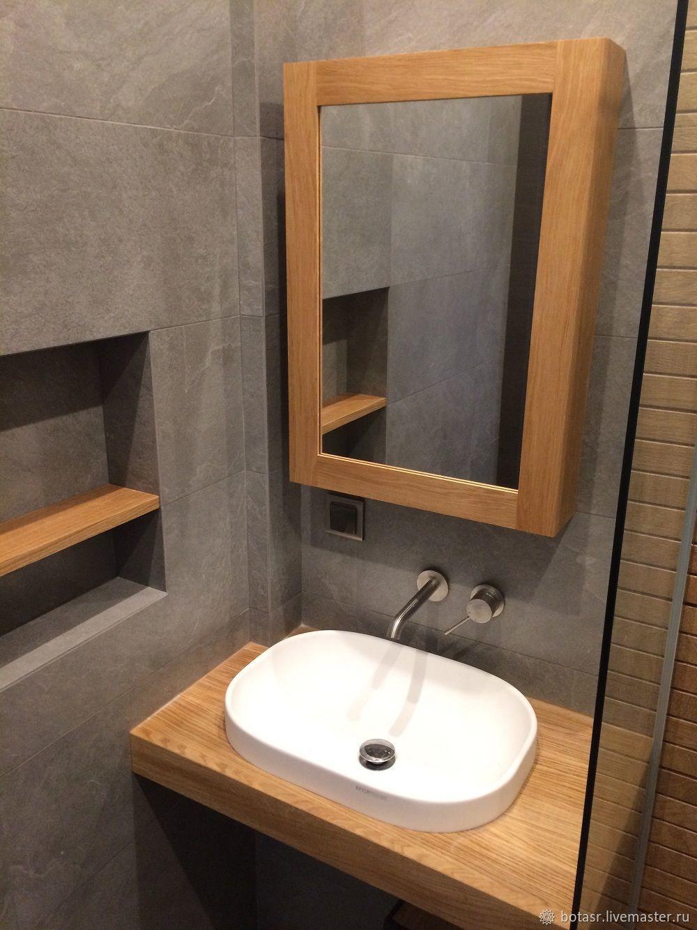 Шкафчик с зеркалом для ванной своими руками фото 320