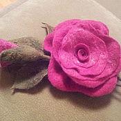 Украшения ручной работы. Ярмарка Мастеров - ручная работа Брошь малиновая роза. Handmade.