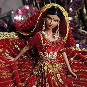 Куклы и игрушки ручной работы. Ярмарка Мастеров - ручная работа Платье для Барби Лакме,  восточная кукла. Handmade.