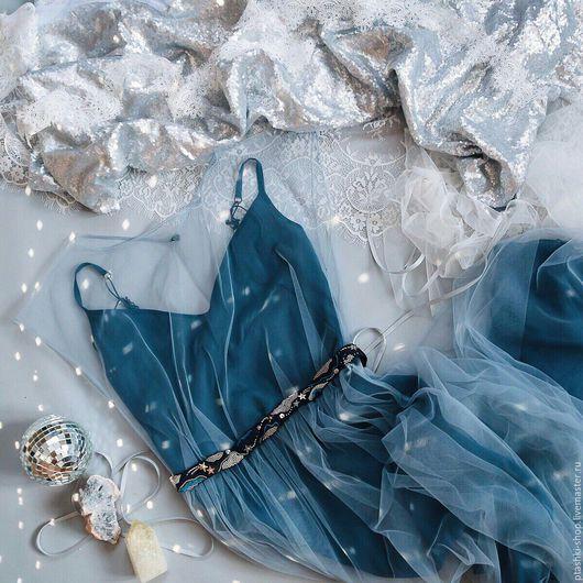 Платья ручной работы. Ярмарка Мастеров - ручная работа. Купить Вечернее платье Млечный путь. Handmade. Тёмно-синий