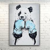 """Картины и панно ручной работы. Ярмарка Мастеров - ручная работа Картина масло холст """"Панда"""". Handmade."""
