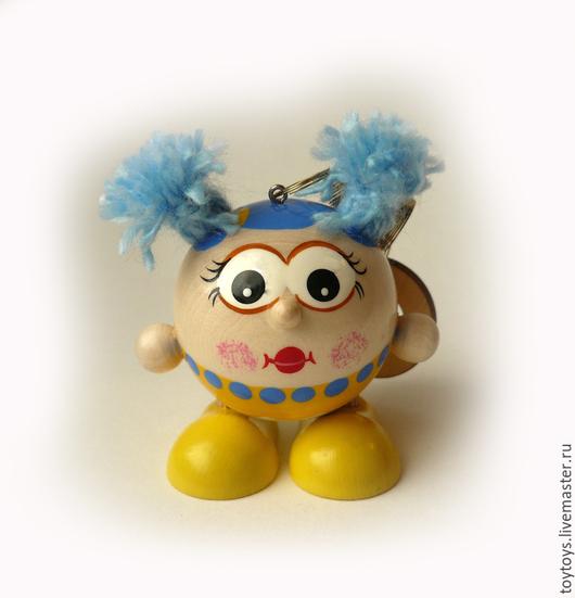 """Человечки ручной работы. Ярмарка Мастеров - ручная работа. Купить Игрушка """"Настя"""" на пружинке. Handmade. Игрушка для детей, игрушка в подарок"""