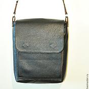 Сумки и аксессуары ручной работы. Ярмарка Мастеров - ручная работа Кожаная мужская сумка-планшет с клапаном. Handmade.