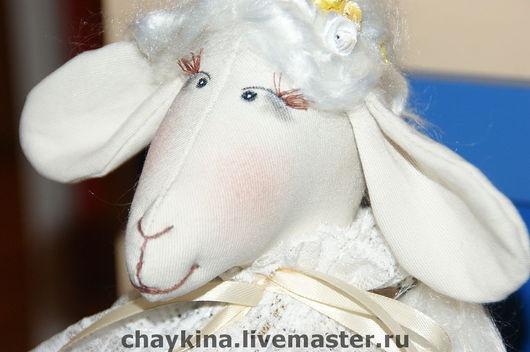 Игрушки животные, ручной работы. Ярмарка Мастеров - ручная работа. Купить овечка Агафья Петровна. Handmade. Овечка, пано